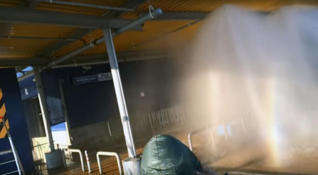 Автоматическое пожаротушение в нежелых помещениях